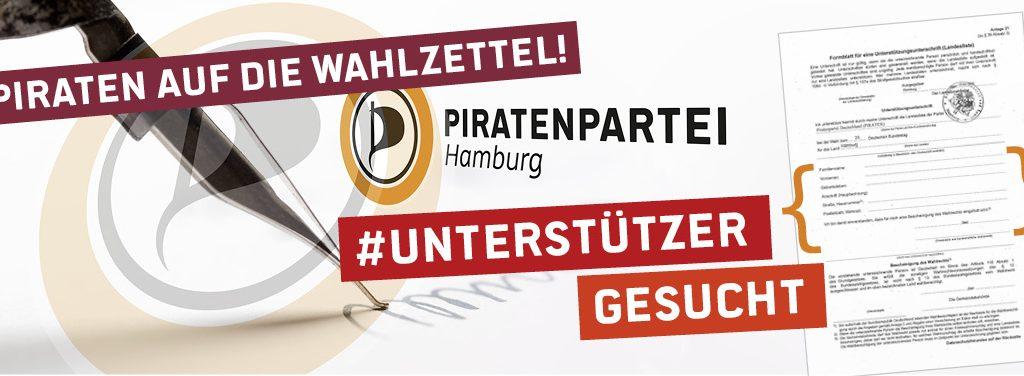 Piratenpartei Unterstützungsunterschrift Formular